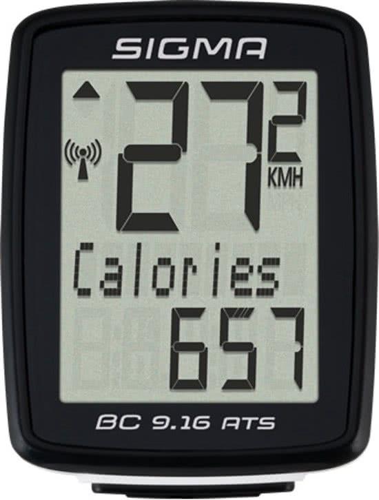 Sigma BC 9.16 ATS - Fietscomputer - 11 functies - Draadloos - Zwart
