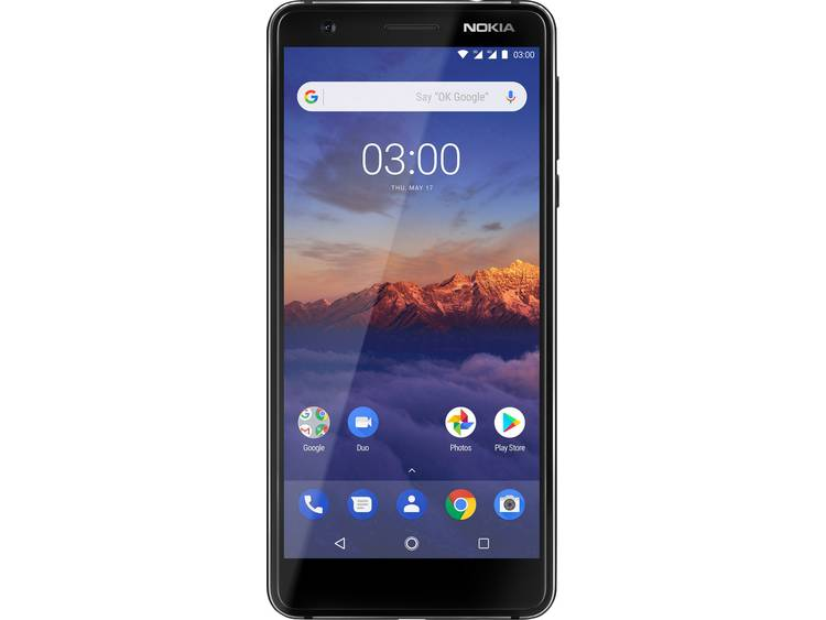 Nokia 3.1 Version 2018 Dual-SIM LTE smartphone 13.2 cm (5.2 inch) 1.5 GHz, 1.0 GHz Quad Core 16 GB 13 Mpix Android 8.0 Oreo Zwart