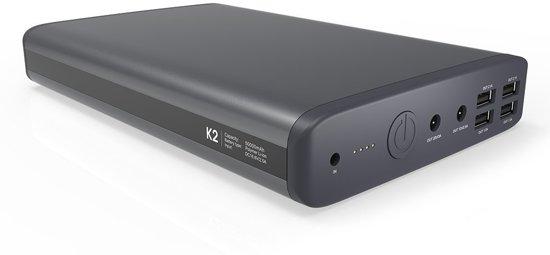 PowerOak K2 50000mah laptop notebook power bank / 6 poorten / 185Wh / super capaciteit