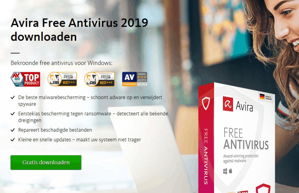 gratis antivirus software bescherming