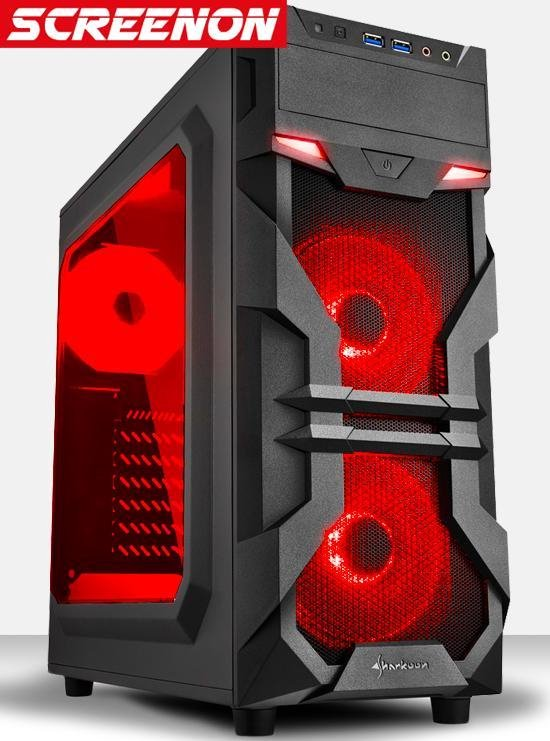 AMD Ryzen 3 3200G Budget Game Computer V.2 / Gaming PC LSE2200 - RX Vega 8 - 8GB DDR4 2666 RAM + 1TB HDD - Windows 10