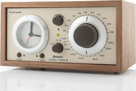 Tivoli Audio Model Three BT - Wekkerradio in Walnoot/Beige