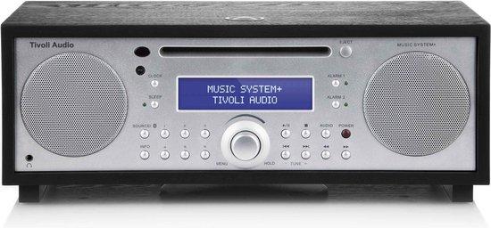 Tivoli Audio Music System+ Alles-in-één Hifi-systeem Zwart Essen/Zilver