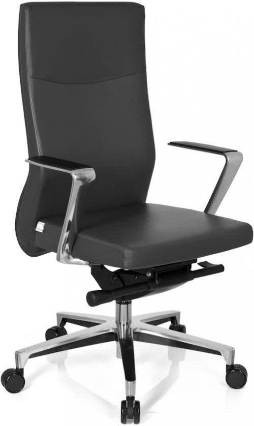 hjh office Neolite - Bureaustoel - Directiestoel - Leder - Grijs